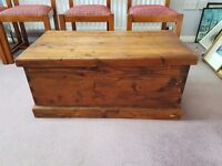 Lovely solid pine blanket / toy box with hinged lid