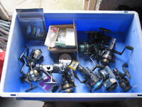 10 Fishing Reels, Lures and Various Line Rigs