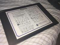 Vintage Framed Meccano Instructions