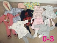 Baby Girl clothes bundles all like new barely worn mainly next, marks an Spencer's etc