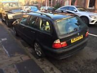 BMW 3 series 318i estate. Low mileage, good condition, great working order. MOT Oct 2018.