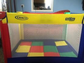 Graco travel cot with storage bag