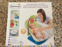 Summer deluxe baby bath bather with toy bar