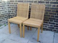 Two Woven chairs Furniture