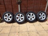 """SET of 18"""" BMW X5 genuine alloys with almost new continental tyres"""