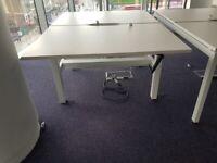 2-pod sit-stand height adjustable desks/tables office desks