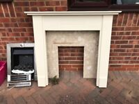 Fire surround , Marble back and matching hearth