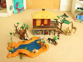 Playmobil Safari Lodge and Watering Hole and Wildlife