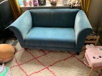 Small blue sofa