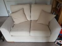 2 Cream coloured sofas, very good condition