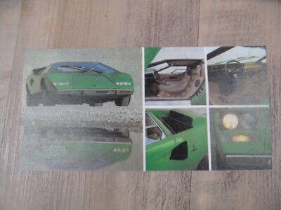 Prospekt brochure LAMBORGHINI Countach Typenkarte  SR118