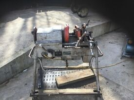 industrial 110v pipe threader on trolley in good working condition £350 bargain