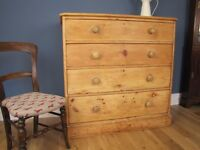 Very large Victorian Stripped Pine Chest of Drawers