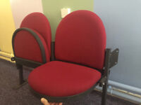 Folding Sprung Seats | Cinema Stadium Sporting Taxi Man Cave Office Chairs Bank Seating