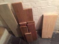 Solid oak wood bits
