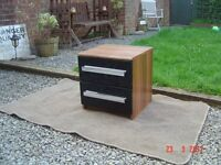 Oak Venered Bedside Cabinet with Two Drawers. Can Deliver