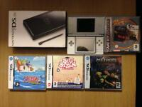 Nintendo DS Lite (Boxed) plus 4 games, Case and Charger.