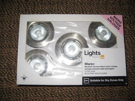 Downlights - Brushed Chrome 5 pack with bulbs