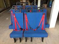14 BLUE MINIBUS SEATS £25 EACH