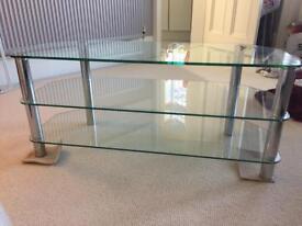 Lovely Corner Glass TV Stand 1150 x 450 x 500mm