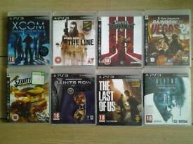 Assorted PS3 games.£1.00 each.