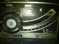 "Craftsman 10"" contractor table saw"