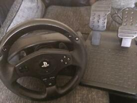 Thrustmaster PS4 steering wheel & pedals