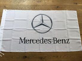 Mercedes Benz AMG E class S class SLK SLR cosworth g wagon Vito workshop flag banner
