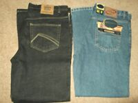 2 pairs good quality mens jeans (brand new) size waist 36in inside leg 31in.. £12.00 ovno