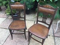 2 x Antique Chairs