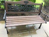 Heavy duty cast iron garden bench decorative