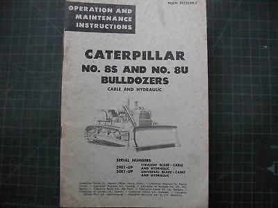 Caterpillar 8u S Bulldozer Operationmaintenance Manual