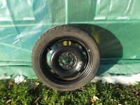 2000 MERCEDES A140 AVANTGARDE SPACE SAVER SPARE WHEEL AND TYRE