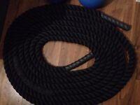 12kg Pair Pro Grade Kettlebells + 12m Battling Rope (10kg)