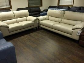 reduced Fantastic ex-display 2 and 3 seater in cream