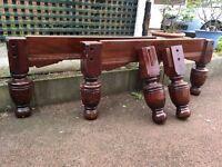 Full Set Of Snooker Table Legs - Mahogany Snooker Table Legs - Old Snooker Table Legs - Reduced