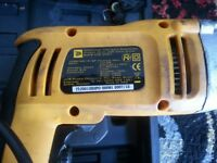 JCB Corded Hammer Drill with case for sale.