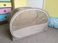 Samsonite popup travel cot great for camping with babies