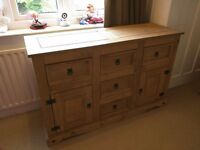 Pine Wood Mexican Corona Large Sideboard