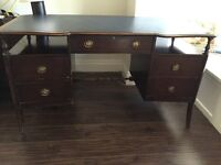 Lovely traditional wood and leather desk
