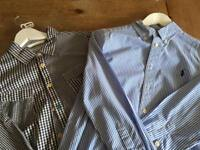 Boys shirts x 2 from Joules & Ralph Lauren. Aged 10-12 years