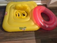 Toddler swim ring and a seat