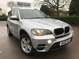 FINANCE £312 PER MONTH, 1 OWNER 2012 BMW X5 XDRIVE 3.0 DIESEL AUTOMATIC, SATNAV LEATHER 60500 MILES