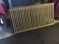 Baby wooden cot bran new even turns in to bed