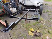 2 bike trailer, light bar and ramp all in a good working condition