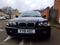 BLUE AUTOMATIC BMW 318i PETROL WITH LOW MILAGE