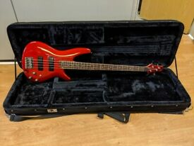 Ibanez SR300 2009 Candy Apple Red Electric Bass Guitar with Hard Case