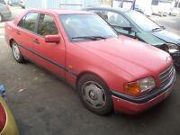 1994 Mercedes Benz C CLASS 180 Petrol 4 Door Saloon Red. Mileage is 199K. Ideal for Export..