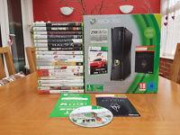 XBOX 360 Slim 250GB with 15 Games (inc GTA V, Halo 4, Saints Row 4) - £100 O.N.O. (Hampshire)