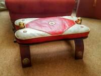Leather Saddle Footstool